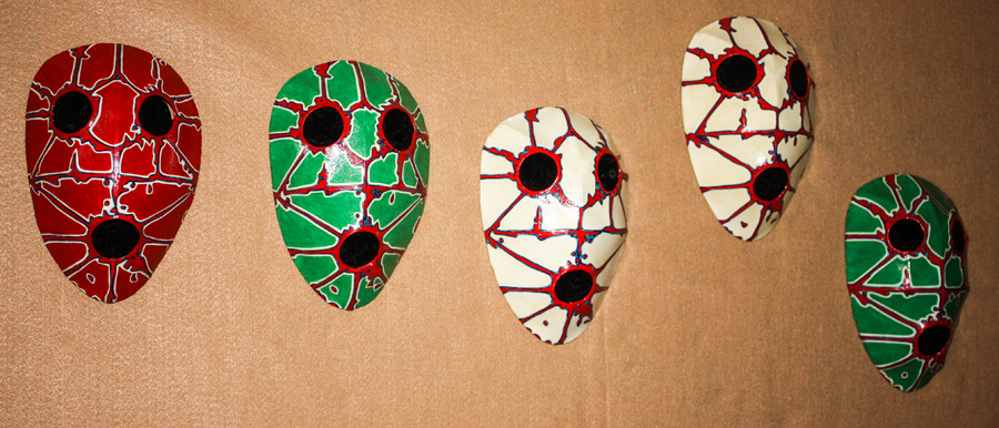 Alexander the Great Masks: Group, 1, 2, 3, 4, and 6
