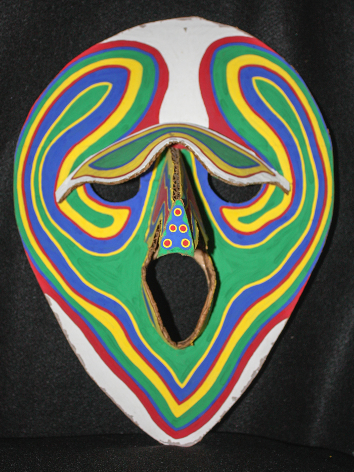 Mask Two (straigh on image)