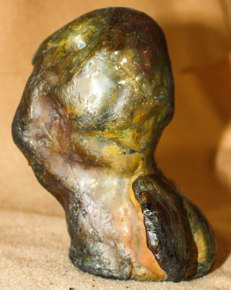 Raku Solid Body Porcelain Sculpture 111