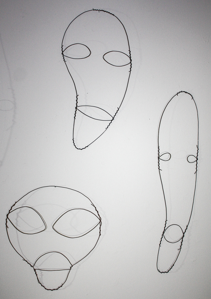 Wire Faces 105, 106, 107